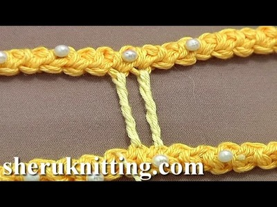 How to Make Thicker Twisted Bride (Bar) Tutorial 50 Part 2 of 9 Romanian Point Lace