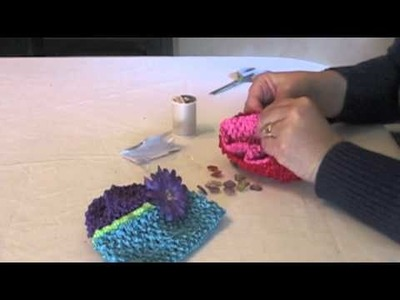 How To Make Two Tone Waffle Crochet Baby Hats