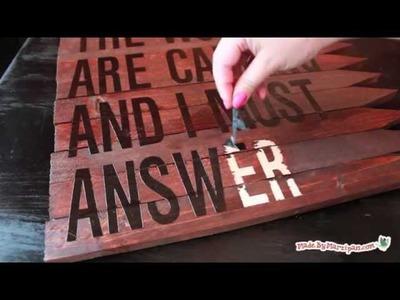 Make a Rustic Wood Sign