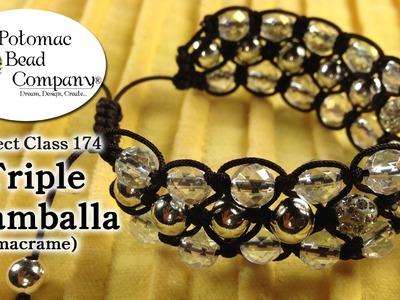 Make a Triple Shamballa Bracelet