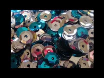 'One Mans Junk' Sequin Christmas Ornament Craft HD