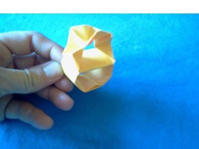 Origami Diamond ring - Anillo de diamantes de papel