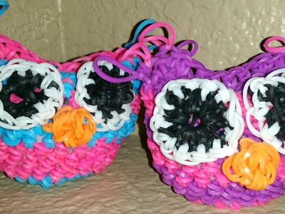 RAINBOW LOOM 3D OWL - LOOMLESS AMIGURUMI LOOMIGURUMI How to