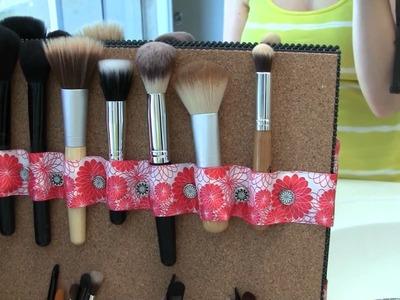 Revamped Makeup Storage and DIY Brush Holder