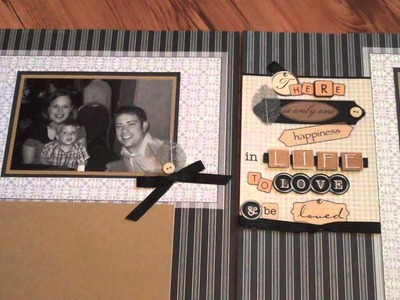 Scrapbooking Ideas: Easy Scrapbook Pages - Use Page Kits and Overlays