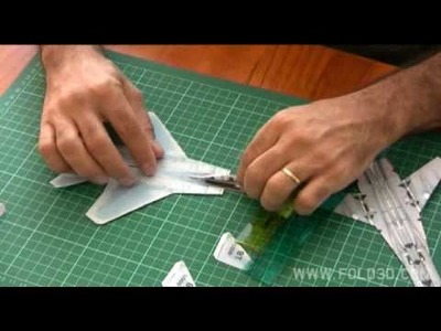 Simple 2D F15 Eagle Paper Foldup Plane - Construction Video