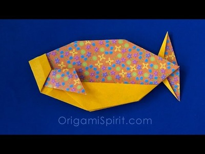 TIME-LAPSE Origami Swimming-Fish : : Pez Nadador