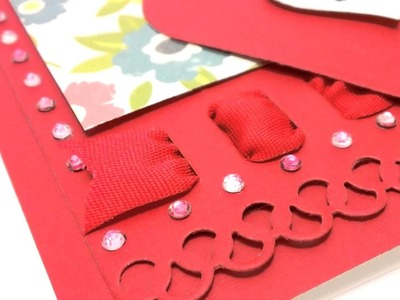 Card Making with Faux Canvas & a Ribbon Threader