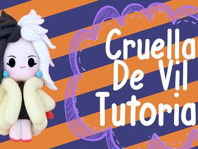 Cruella de Vil Chibi | Polymer Clay Tutorial