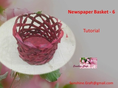 D.I.Y - Newspaper Basket 6 - tutorial