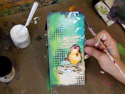 Dina Wakley Media Painted Tag