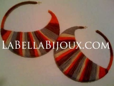 Handmade earrings by La Bella Bijoux
