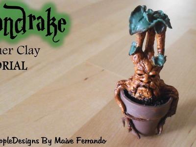 Harry Potter's Mandrake or Mandragora Polymer Clay TUTORIAL | Maive Ferrando