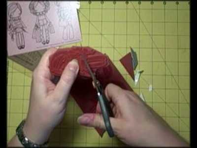 How to. cut out foam backed rubber stamps