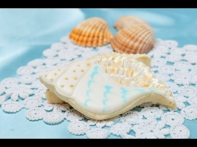 How To Decorate Sea Shell Cookies, Brushed Embroidery Technique