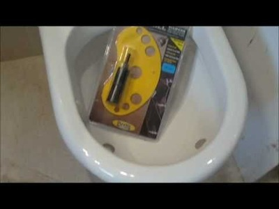 How to drill a hole into a ceramic sink toilet pedestal bathroom loo urinal,