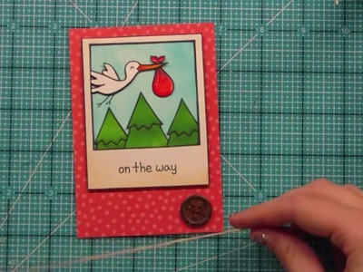 How to make a baby card from start to finish { Lawn Fawn }