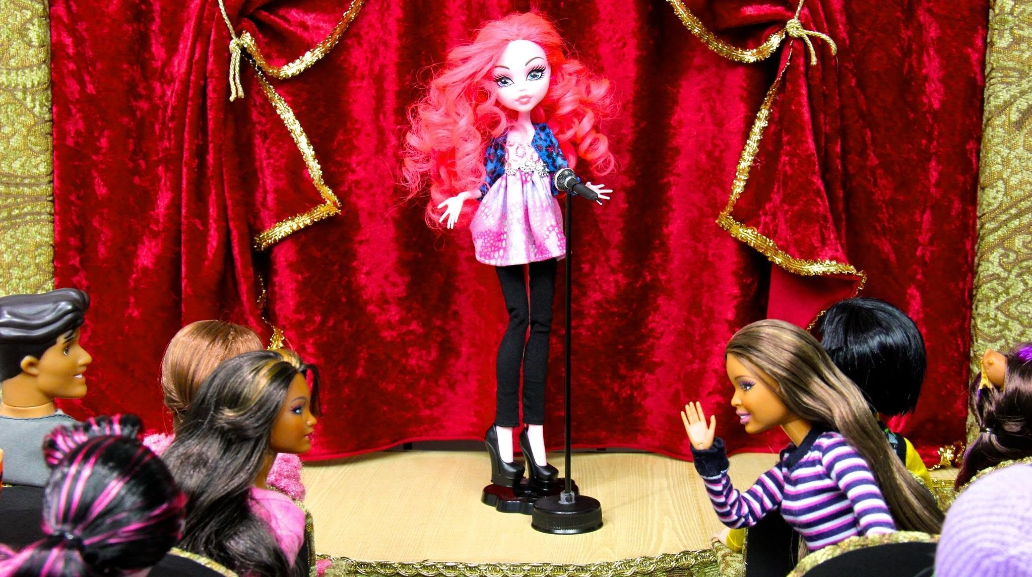 How to Make a Doll School: Theatre Stage | Plus Custom Equestria Monster Pinkie Pie
