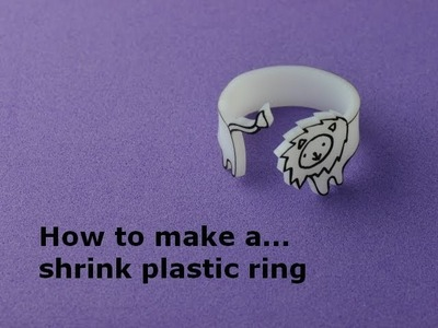 How to make a Shrink Plastic Ring
