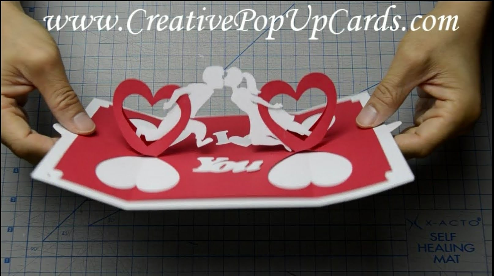 How to make a Valentines day pop up card: Twisting Hearts