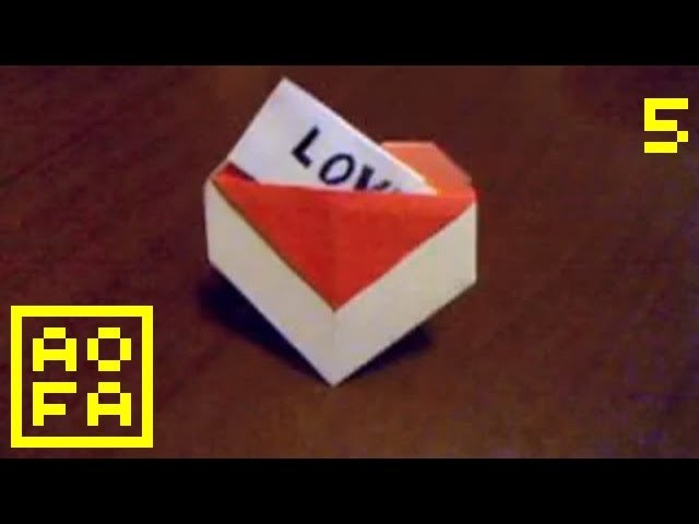 How to make an Origami Heart with a Pocket . for all (05)