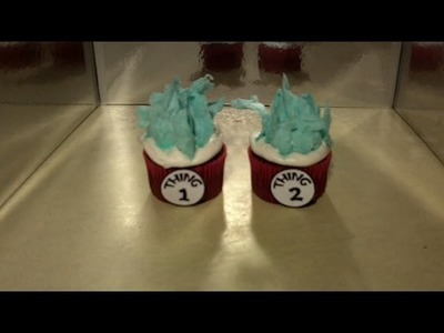 How to Make Thing 1 & Thing 2 Cupcakes Dr Seuss