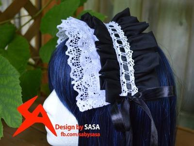 Lolita.Maid Headband Headress Sewing Tutorial
