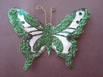 Make glittered butterflies with cardstock.