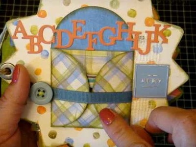 Mini-album using K@Company's Hopscotch collection