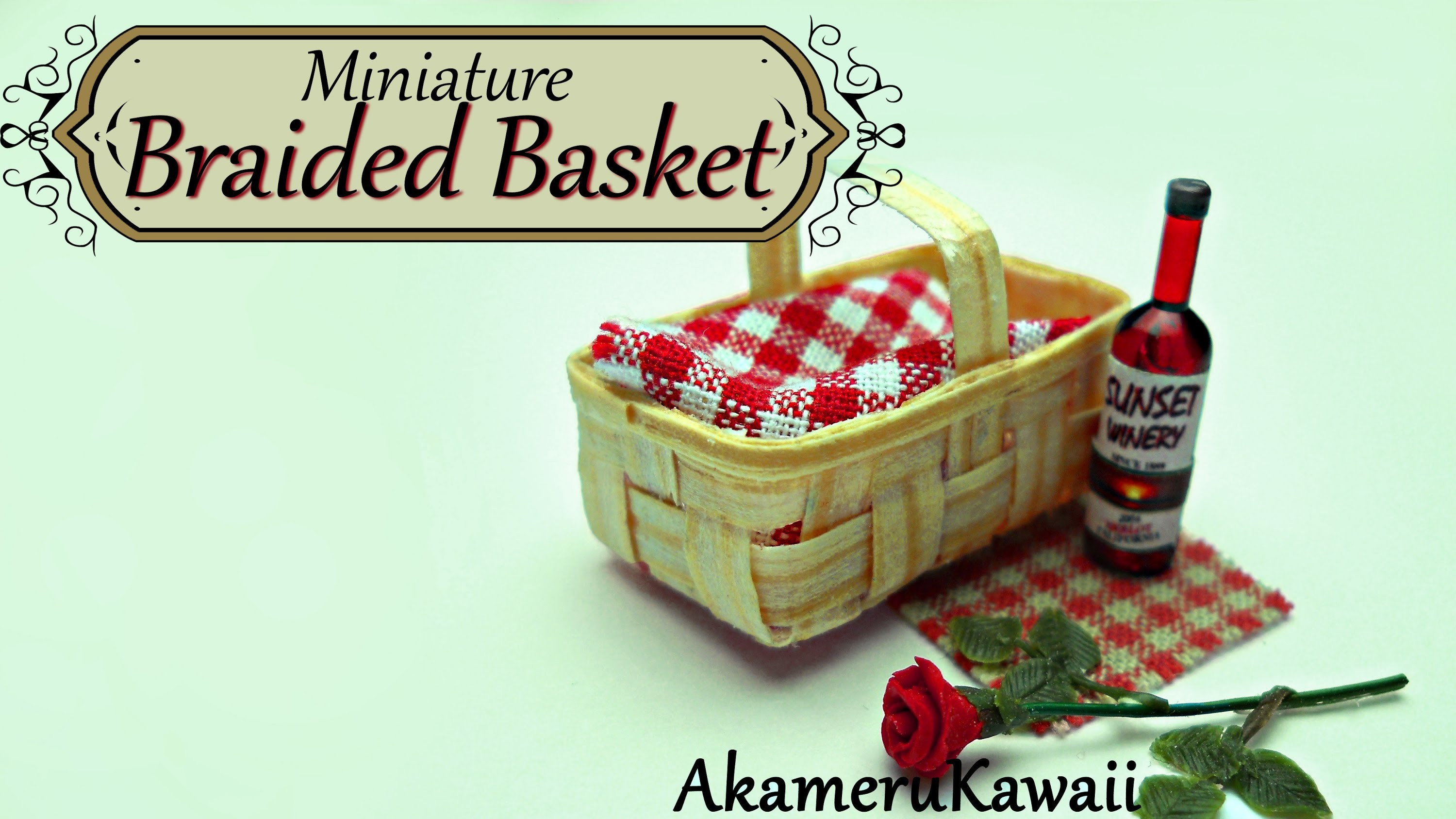 Miniature Doll Basket from wood - Tutorial
