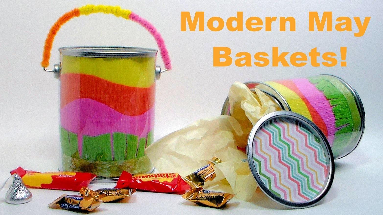 Modern May Basket OR Cute Candy Pail!