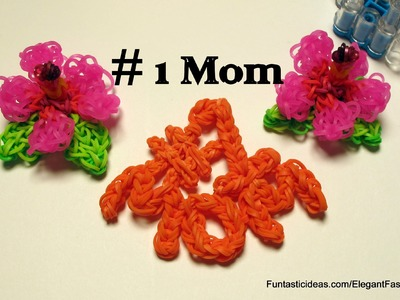 Mother's Day Gift Idea: Rainbow Loom # 1 Mom  Charm - How to