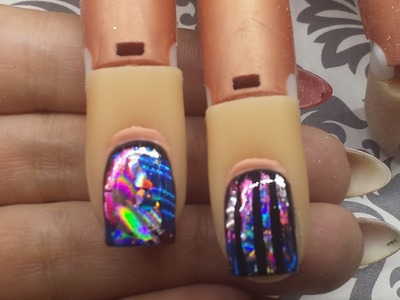 Nail Art Tutorial - Transfer Foil Over Gel Polish