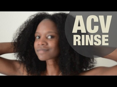 NATURAL HAIR how to apple cider vinegar rinse | Nik Scott