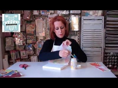 Paper napkin techniques for a 3D effect