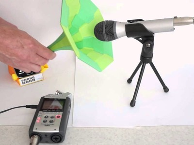 Phono Horn : Make your own paper phone dock