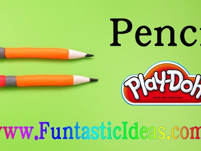 Play Doh Pencil - How to with playdough tutoria by Funtastic Ideas