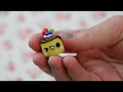 Polymer Clay Flan Charm Tutorial
