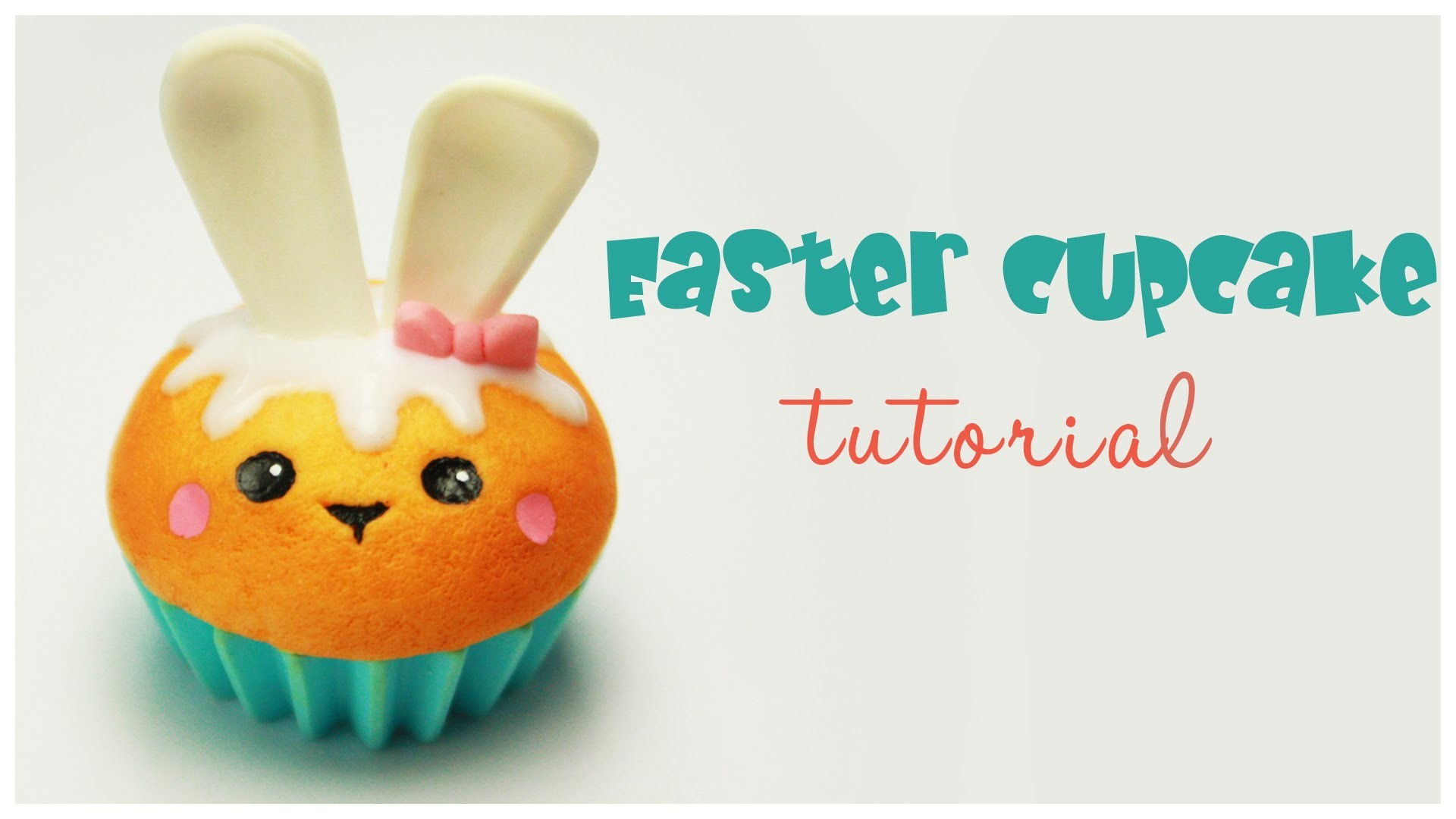 Polymer clay Kawaii Easter Cupcake TUTORIAL(collab with GentlemanBunny)