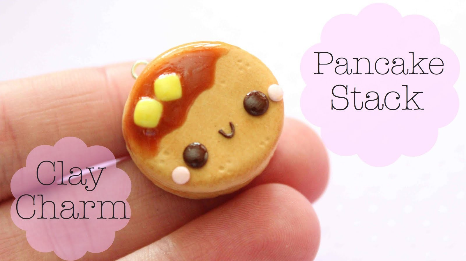 Polymer Clay Pancake Stack Charm Tutorial