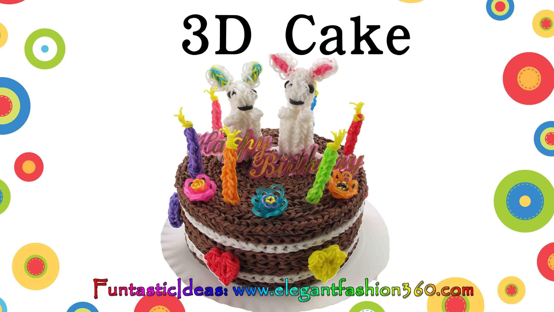 Rainbow Loom 3D cake 6