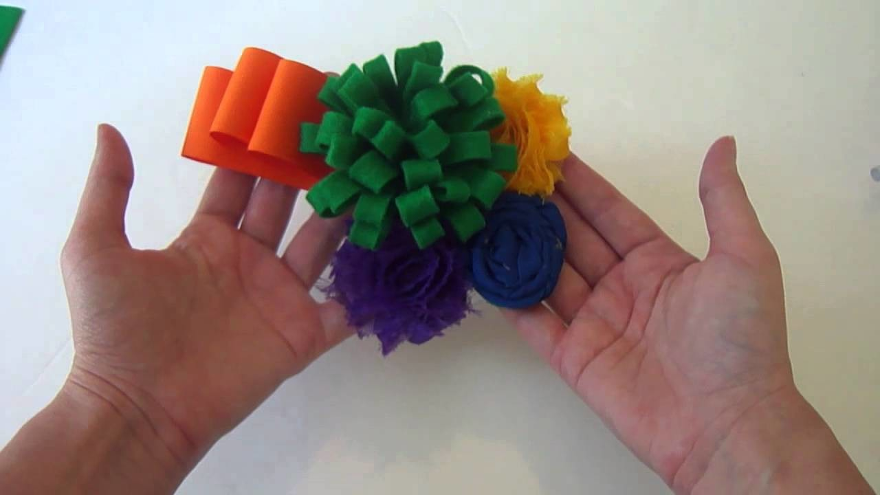 Shabby, Chic and FUNKY! (How to make Kennedy's funky flower headband)