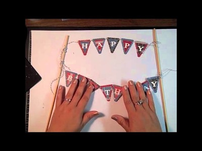 Stampin' Up! Tutorial Petite Pennants Happy Birthday