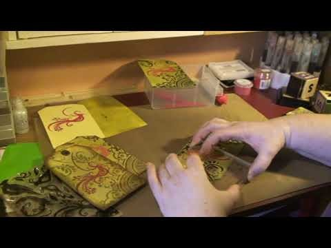 Tutorial - bird tag - Tim Holtz distress ink and clear stamps blending tool