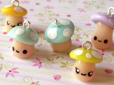 Tutorial: Kawaii Mushrooms polymer clay charms