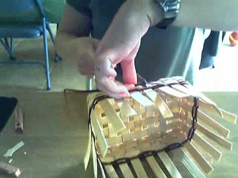 Basket Weaving Video #7--Adding Color and Weaving the Sides