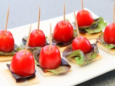 BLT Bites - Bacon Lettuce Tomato - Video Recipe