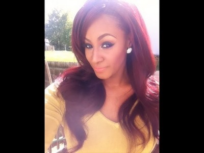 DIY. . How I Got My Red.Burgundy Hair Color: RED HEADS STAND UP!