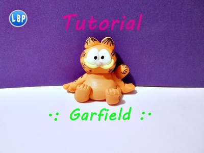 Garfield Tutorial facil. polymer clay. pasta flexible. porcelana fria