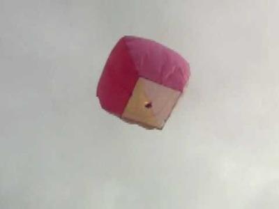 Homemade sky lantern tissue paper 1